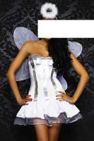Engel-Kostüm 4-teiliger weiß/silber Gr. XS-L - OVP - NEU