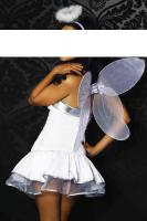Foto 2 Engel-Kostüm 4-teiliger weiß/silber Gr. XS-L - OVP - NEU