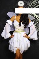 Engel-Kostüm weiß/gold Gr. XS-M - OVP - NEU