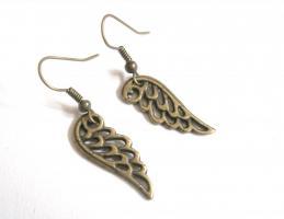 Engels Flügel vintage Ohrringe