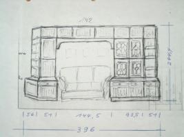 Foto 2 Englische Schrankwand von Jaycee ''Oakbury'' WarmTudor