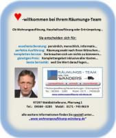 Entrümpelung Wohnungsauflösung Würzburg Haushaltsauflösung Räumung