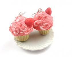 Erdbeer Joghurt Törtchen Ohrringe