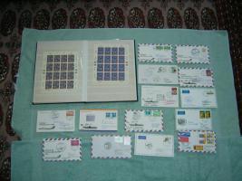 Erste Jahre Briefmarkensammlung der UN-Wien