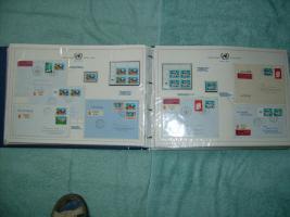 Foto 3 Ersten Jahre Briefmarken der UN-Wien
