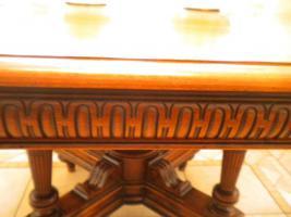 Foto 3 Eßgruppe, ausziehbarer Tisch, Gründerzeit Henry II, Nussbaum m. 12 Stühlen
