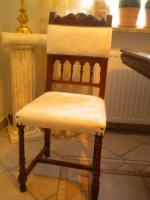 Foto 4 Eßgruppe, ausziehbarer Tisch, Gründerzeit Henry II, Nussbaum m. 12 Stühlen