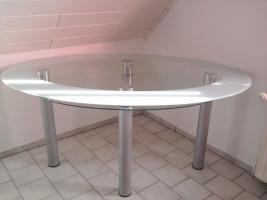 esstisch oval aus glas in sterley glas oval esstisch. Black Bedroom Furniture Sets. Home Design Ideas