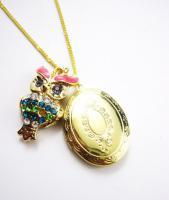 Eulen-Amulett Kette