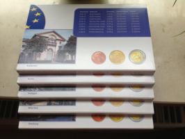 Foto 4 Euro-Münzen BRD 2002 spiegelglanz