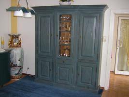 Foto 11 Exclusives Esszimmer Komplett Antikblau mit Kattwinkel Vitrine