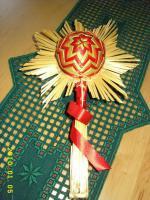 Foto 3 Exklusive Weihnachtsbaumkugeln + Spitze, jede Kugel handgearbeitet
