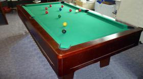 Foto 3 ''Exklusiver Henzgen Poolbillard-Tisch aus Mahagoni + Abdeckplatte''