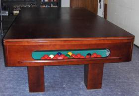Foto 4 ''Exklusiver Henzgen Poolbillard-Tisch aus Mahagoni + Abdeckplatte''