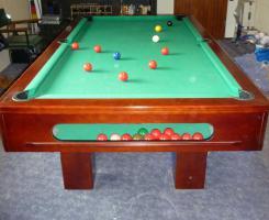 Foto 7 ''Exklusiver Henzgen Poolbillard-Tisch aus Mahagoni + Abdeckplatte''