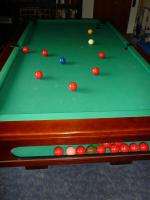 Foto 8 ''Exklusiver Henzgen Poolbillard-Tisch aus Mahagoni + Abdeckplatte''