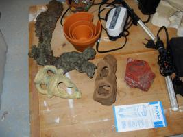 Foto 4 FLUVAL 3 PLUS – Innenfilter mit vielem Zubehör und Deko-Material.