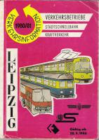 Fahrplan Leipziger Nahverkehr 1980/81