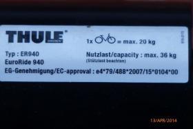 Foto 2 Fahrradträger Thule Typ 940 für 2 Fahrräder