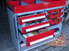 Fahrzeugeinrichtung Fahrzeugeinbau Fahrzeugregal Bott Vario
