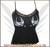 FancyBeast Party Clubwear Girl Shirt mit Spaghettiträger   NEU!