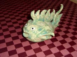 Foto 3 Fantasie Fisch Ton Handarbeit Unikat