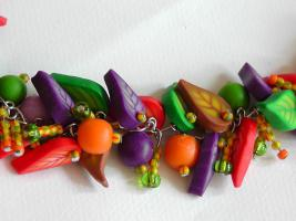Foto 2 Farbenfröhliche Kette aus Fimo