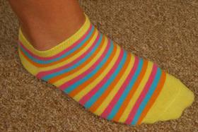 Farbliche Sneakersocken