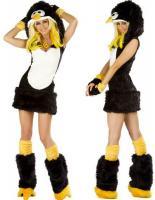 Fasching Karneval Kostüm Plüsch Fell Pinguin Südpol