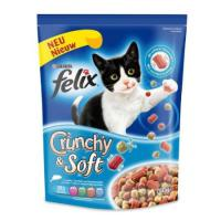 Felix Crunchy & Soft Lachs, Thunfisch & Gemüse, Katzenfutter - 750g