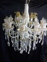 Felújított antik porcelán csillár