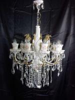Foto 3 Felújított antik porcelán csillár