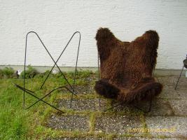 Fell für Fledermaus Sessel - Butterfly Chair