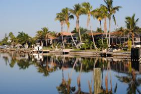 Ferienhaus in Cape Coral/ Florida am 'Kanal mit Golfzugang, Boot mieten mgl