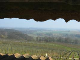 Der Durchblick zur Burg Landeck