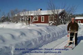 Foto 8 Ferienhaus, Blockhütte mit Kamin und Sauna in Lappland/Schweden