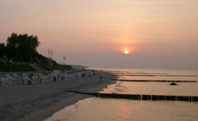 Sonnenuntergang am Strand von Kühlungsborn