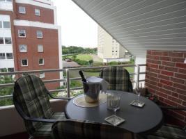 Balkon mit Seesicht und Heizstrahler