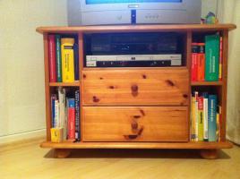 Fernseh-Eckschrank aus massivem Kiefernholz