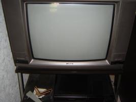 Fernseher der Fa. Metz inkl TV-Wagen (Edelstahl mit Rollen)