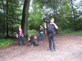 Foto 3 Fernsehteam - Detektiv Dreh mit  Sicherheits  Experte R. Spies .