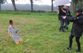 Foto 4 Fernsehteam - Detektiv Dreh mit  Sicherheits  Experte R. Spies .