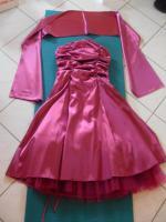 Festliches Kleid mit Stola/ Abiballkleid Gr. 36