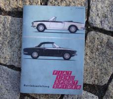 Fiat 124 Sport Spider Betriebsanleitung / 1970