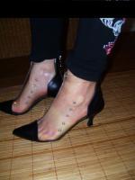 Fifty-6 Stiefelette Gr.38 transparent , echt Leder, High Heels, Neu