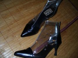Foto 3 Fifty-6 Stiefelette Gr.38 transparent , echt Leder, High Heels, Neu
