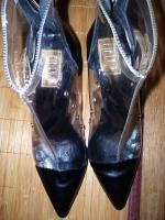 Foto 4 Fifty-6 Stiefelette Gr.38 transparent , echt Leder, High Heels, Neu