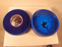 Fiji-Neuseeland, Swordfish,1 Oz Silber/Gildet PP