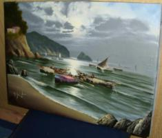 Foto 3 Fischer in der Bucht (Gemälde)