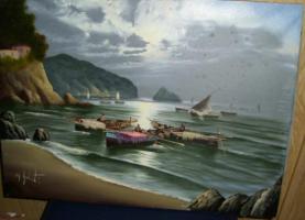 Foto 4 Fischer in der Bucht (Gemälde)